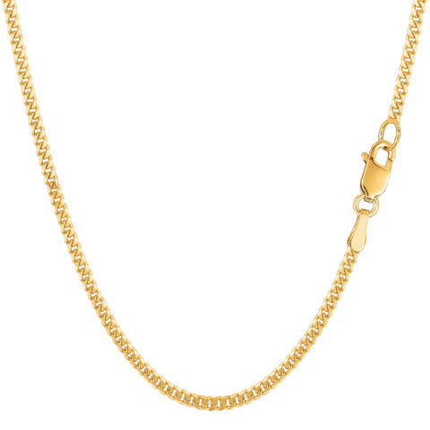 14k Yellow Gold Gourmette Chain Necklace, 2.0mm