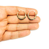 14K Yellow Gold Round Hoop Earrings, Diameter 20mm