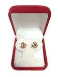 14k Tricolor Yellow White And Rose Gold Shiny Love Knot Stud Earrings, 10mm - JewelryAffairs  - 4