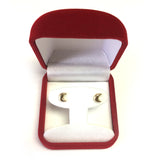 14k Yellow Gold Half Moon Stud Earrings
