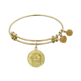 Stipple Finish Brass Lawyer Angelica Bangle Bracelet, 7.25""