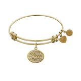 Stipple Finish Brass Niece Angelica Bangle Bracelet, 7.25""