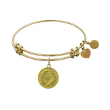 Stipple Finish Brass Laurel Wreath Angelica Bracelet, 7.25""