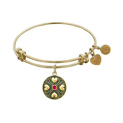 Finish Brass July Birthstone Angelica Bangle Bracelet, 7.25""