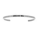 Intuitions Stainless Steel DREAM BIG Diamond Accent Cuff Bangle Bracelet