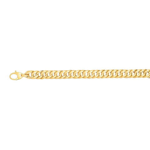 14k Yellow Gold Miami Cuban Link Bracelet, 7.75""