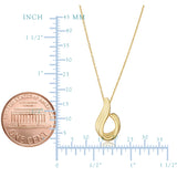 14k Yellow Gold Swoop Pendant Adjustable Necklace, 18""