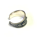Sterling Silver Byzantine Adjustable Band Ring