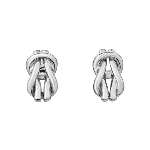 Sterling Silver Looped Knot Shaped Cufflinks