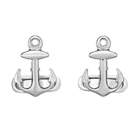 Sterling Silver Sailing Anchor Cuff Link