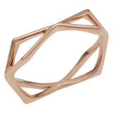 14k Rose Gold Geometric Shape Ring