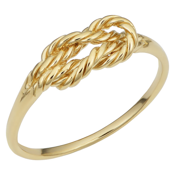 14k Yellow Gold Twisted Love Knot Ring