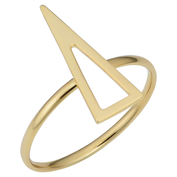 14k Yellow Gold Triangle Shape Ring