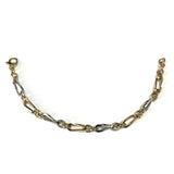 14k Yellow Gold Oval Link Fancy Bracelet, 7.75""