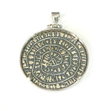 Sterling Silver Greek Phaistos Disc Pendant