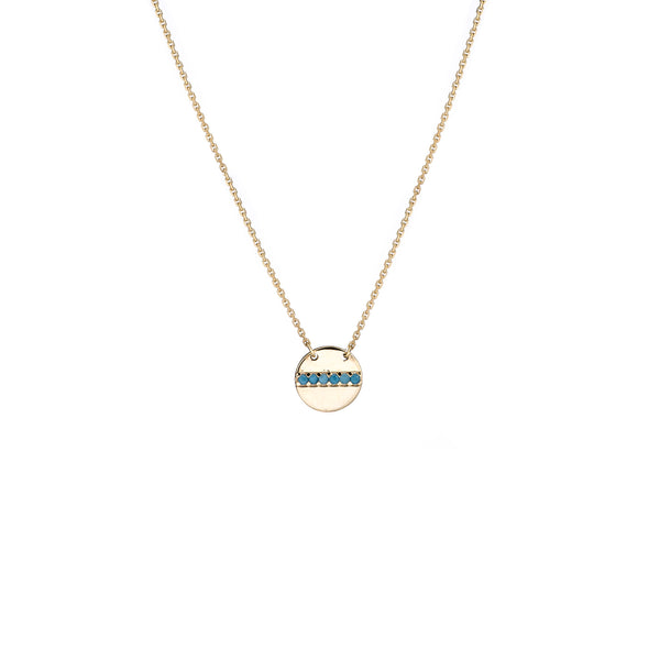 "14K Yellow Gold Disc Pendant Necklace, 16"" To 18"" Adjustable"