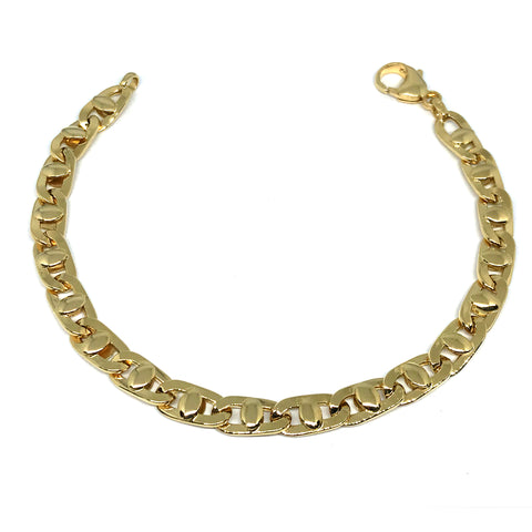 14k Yellow Gold Mariner Link Mens Bracelet, 8.5""