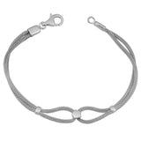 Sterling Silver Mesh Links Bracelet, 7.75""