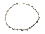 Olive Leafs Necklace In Sterling Silver, 18""