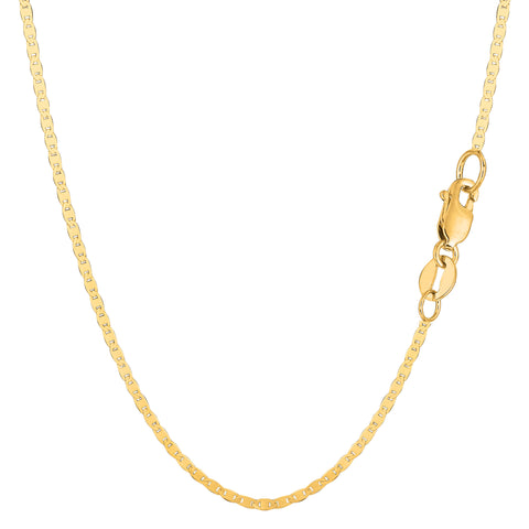 14k Yellow Gold Mariner Link Chain Necklace - 1.7 mm - JewelryAffairs  - 1