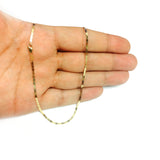 14k Yellow Gold Mariner Link Chain Bracelet, 1.7mm, 10""