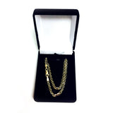 14k Yellow Gold Mariner Link Chain Necklace,3.2 mm