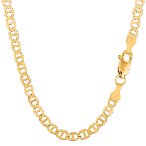 14k Yellow Gold Mariner Link Chain Necklace - 5.5 mm - JewelryAffairs  - 1