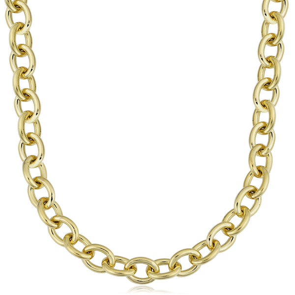 14K Yellow Gold Filled Rolo Chain Necklace, 7.6mm Wide