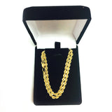 14K Yellow Gold Filled Solid Rope Chain Bracelet, 3.2mm, 8.5""