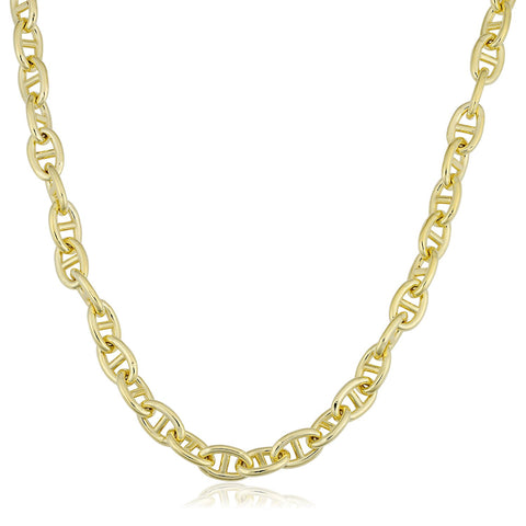 14K Yellow Gold Filled Mariner Chain Necklace, 6.6mm Wide
