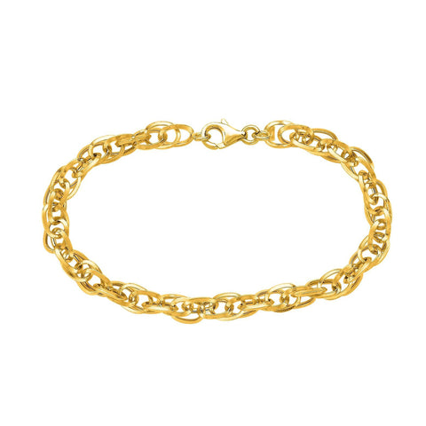 14k Yellow Gold Euro Link Chain Womens Necklace, 18""