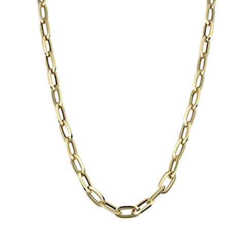 14k Yellow Gold Fancy Oval Link Necklace 20""
