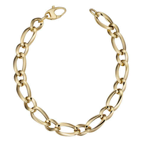 14k Yellow Gold Alternate Links Bracelet, 7.5""