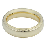 14k Yellow Gold Diamond Cut 6mm Wide Wedding Band Ring