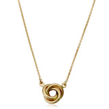14K Yellow Gold Love Knot Pendant Necklace, 17""