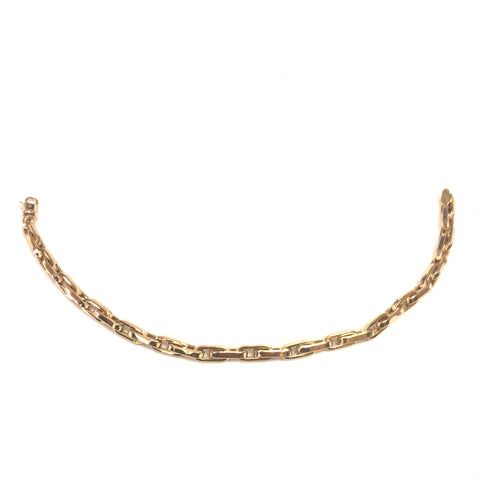 14k Yellow Gold Oval Link Mens Neckalce 22""