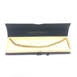 14k Yellow And White Gold Box Link Mens Fancy Bracelet, 8.5""