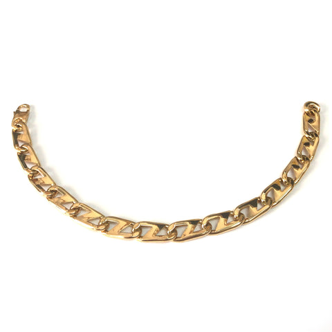 14k Yellow Gold Oval Mariner Link Mens Bracelet, 8.5""