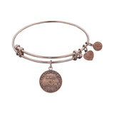 Stipple Finish Brass Maid of honor  Angelica Bangle Bracelet, 7.25""