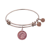 Smooth Finish Brass Sagittarius November Angelica Bangle Bracelet, 7.25""