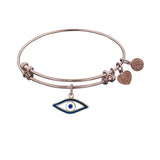 Stipple Finish Brass Evil Eye Angelica Bangle Bracelet, 7.25""