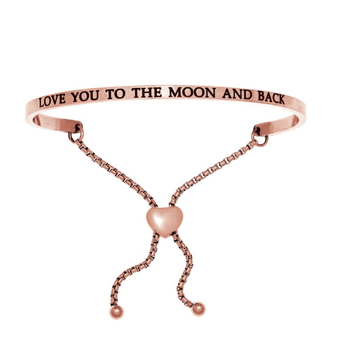 Intuitions Stainless Steel  Love You to the Moon and Back Bangle Bracelet