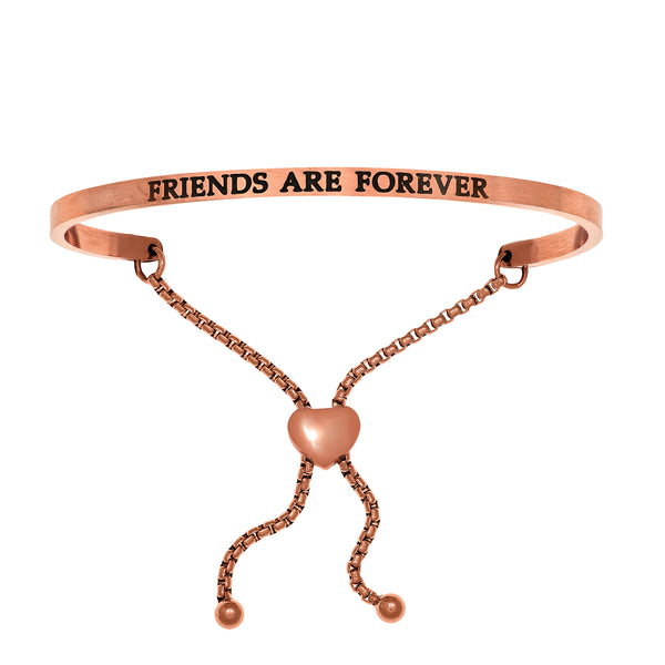 Intuitions Stainless Steel FRIENDS ARE FOREVER Diamond Accent Adjustable Bracelet