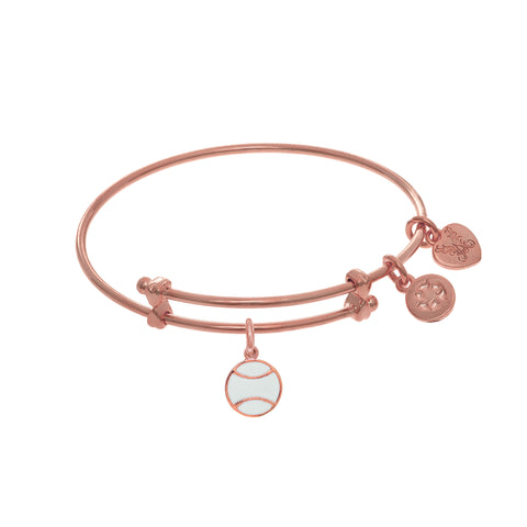 Softball Enamel Charm Expandable Tween Bangle Bracelet