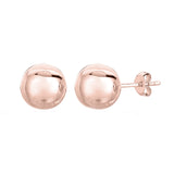 14K Rose Gold Ball Stud Earrings