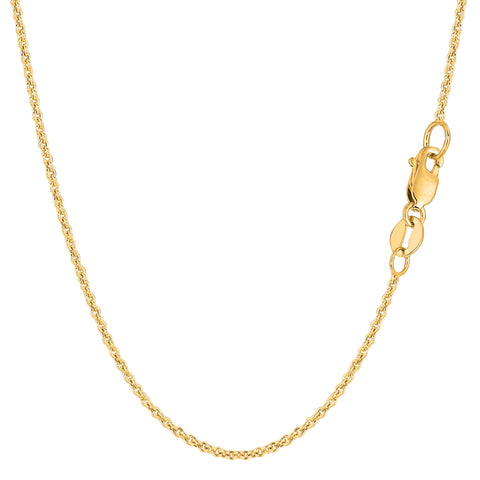 14k Yellow Gold Forsantina Chain Necklace, 1.5mm - JewelryAffairs  - 1