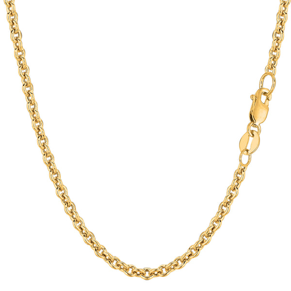 14k Yellow Gold Forsantina Chain Necklace, 3.1mm