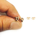 14k Gold Love Knot Stud Earrings, 6mm