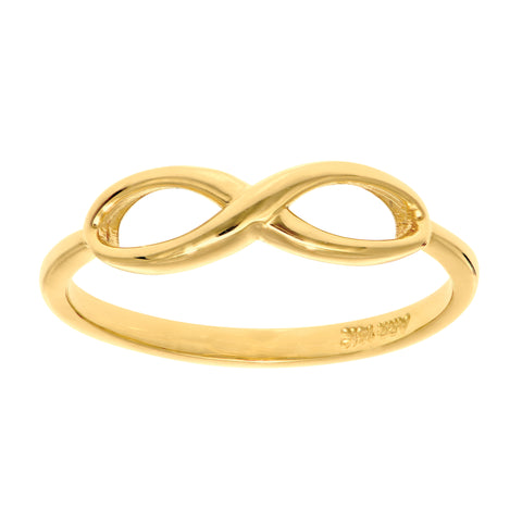 14K Yellow Gold Infinity Ring, Size 7