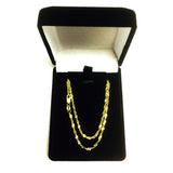 14k Yellow Gold Singapore Chain Necklace, 1.7mm